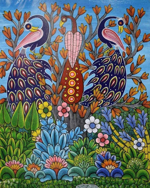african wall art of flowers