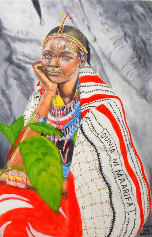 african wall art of a woman