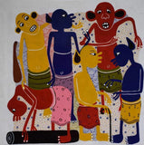 Cultural african wall art of devils