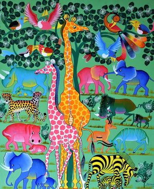 african art of animals in the jungle