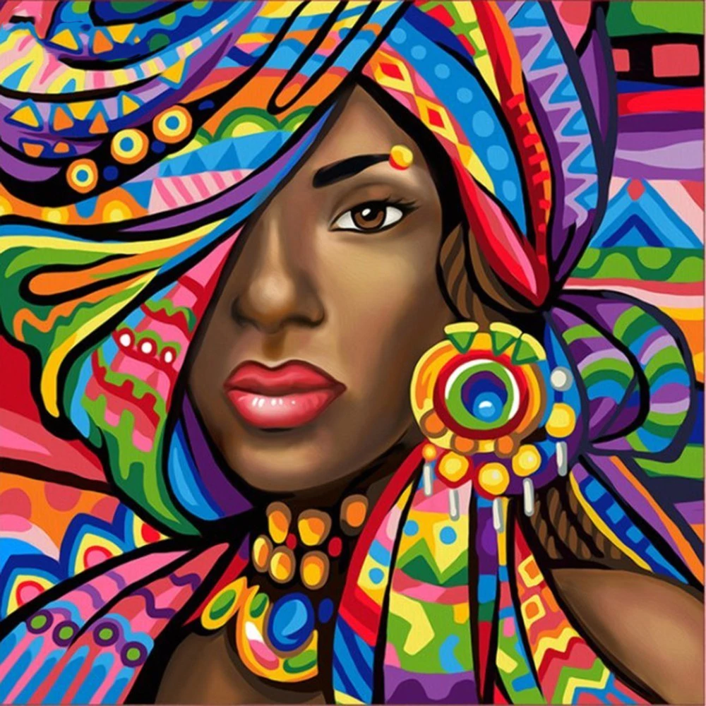 african art of lady