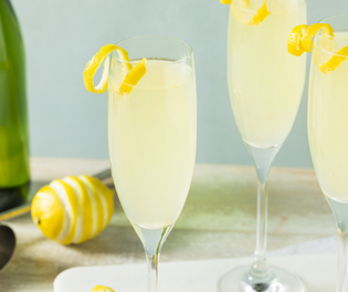 When life gives you lemons why not make a Classic French 75?