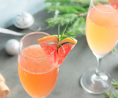 Rosemary Grapefruit Mimosas