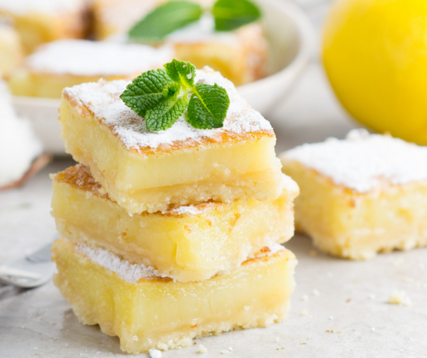 Lemon Bars with Shortbread Cookie Crust