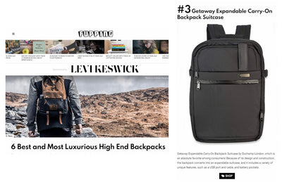 Duchamp Getaway Backpack in Fupping Magazine