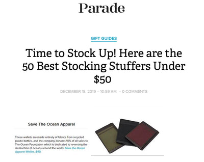 Save the Ocean Wallets in Parade Magazine
