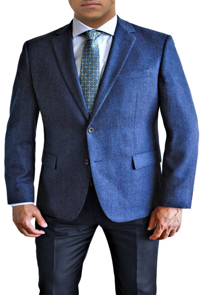 Blue Melange Solid two button jacket by Daniel Hechter
