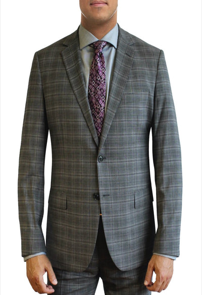 Light Steel Heather Grey Suit Separate Jacket by Daniel Hechter