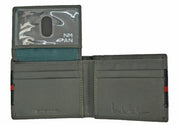 Nicole Miller Grey and Black Wallet with Red Stripe