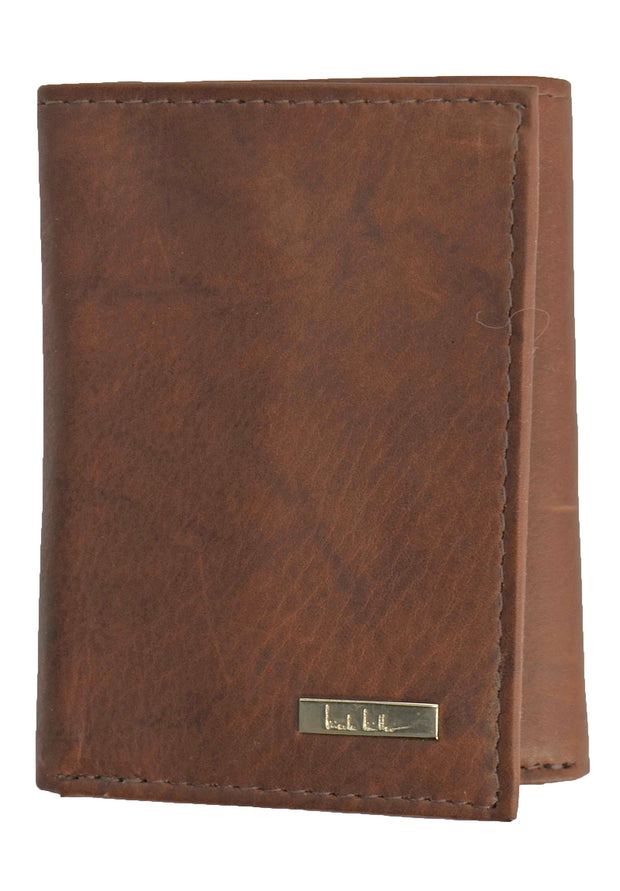 Nicole Miller Brown Tri-Fold Wallet