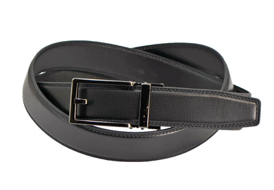 Nicole Miller black vegan leather ratchet belt