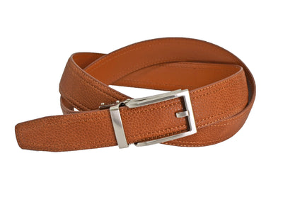 Nicole Miller brown pebble grain vegan belt