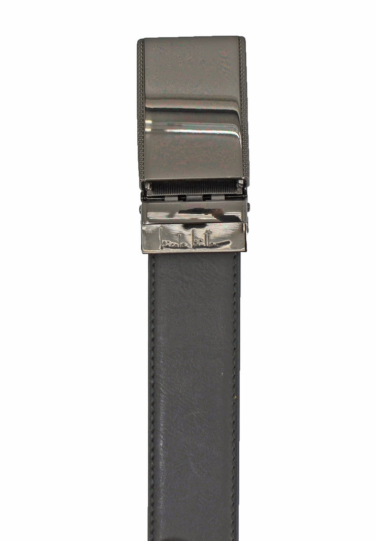 Nicole Miller black textured vegan belt