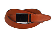 Nicole Miller brown vegan leather ratchet belt