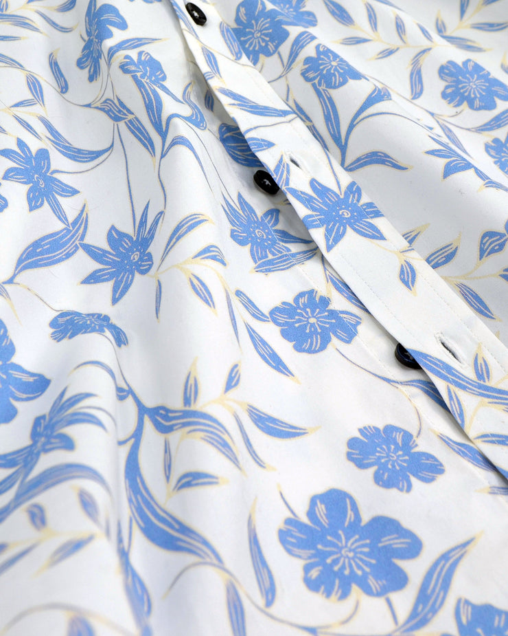 1 Like No Other Fiore light blue floral short sleeve shirt