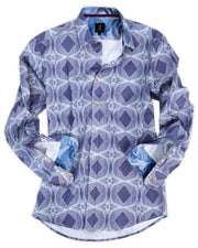 1 Like No Other Purple Geometric Print Shirt