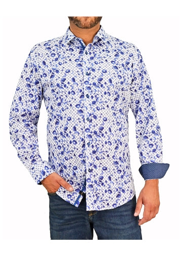 1 Like No Other Arazzo Print Navy Shirt