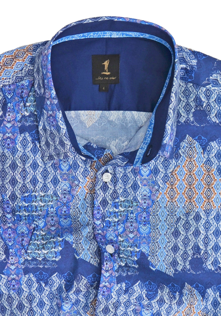 1 Like No Other Obair Half Sleeve Print Shirt