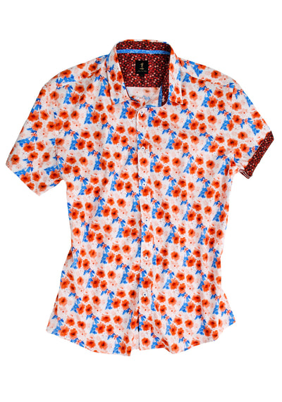 1 Like No Other Sobhrach Half Sleeve Print Shirt
