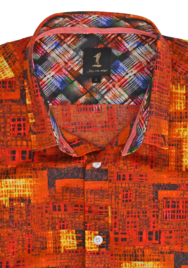 1 Like No Other Cliath Half Sleeve Print Shirt