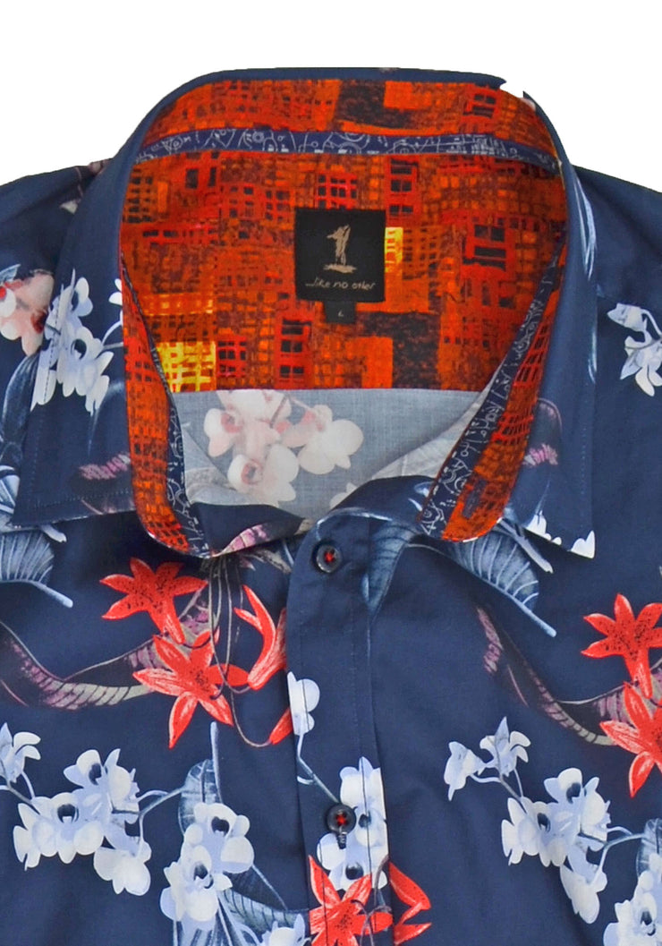1 Like No Other Lus Half Sleeve Print Shirt