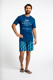 Save the Ocean Recycled blue whale printed swim shorts