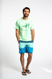 Save the Ocean Recycled blue color blocked swim shorts