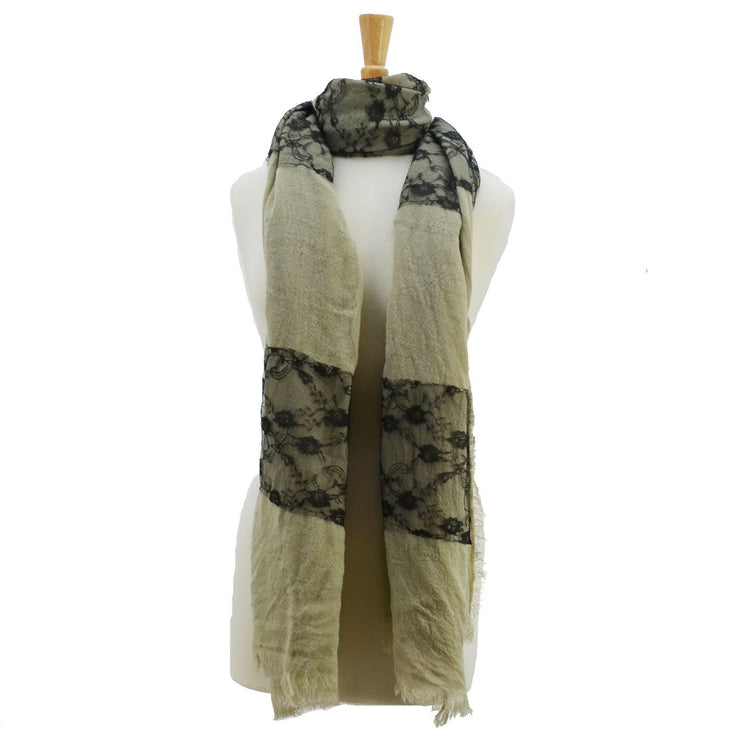 Krista Lace Scarf with Trim