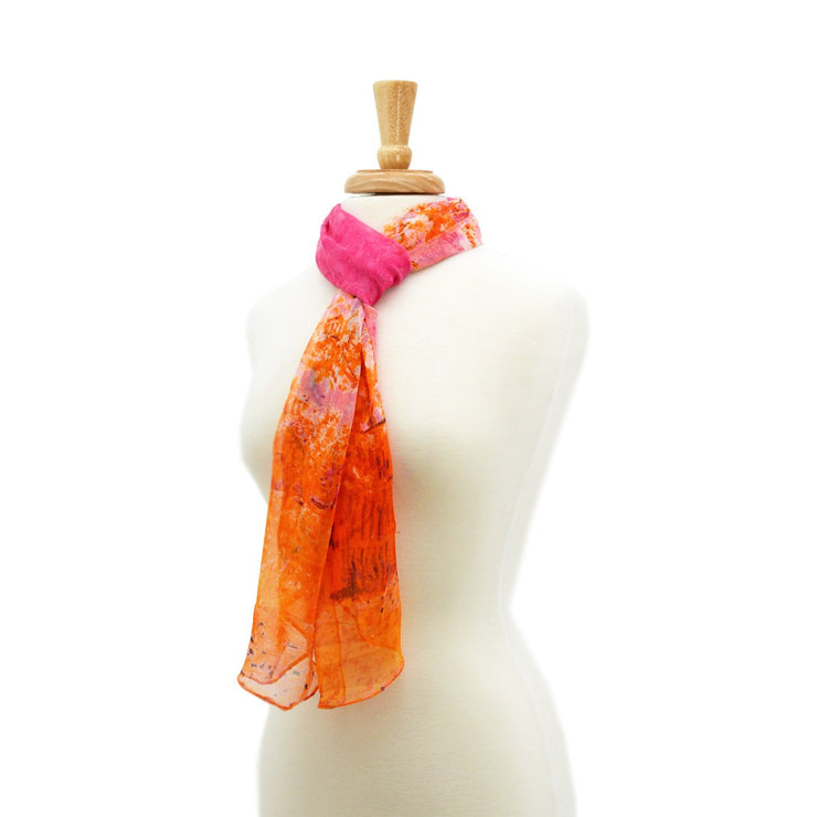 Sage Silk Abstract Fun Scarf