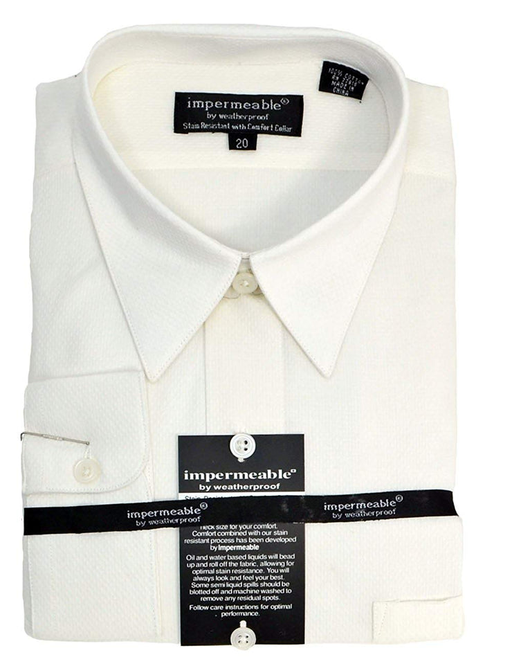 Weatherproof Impermeable Boys Solid Dress Shirt