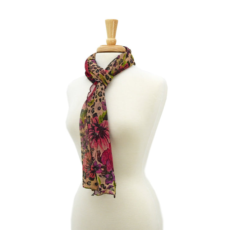 Janis Floral Animal Medley Scarf