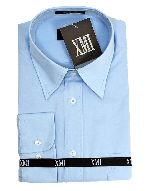 XMI Boys Long Sleeve Solid Shirt