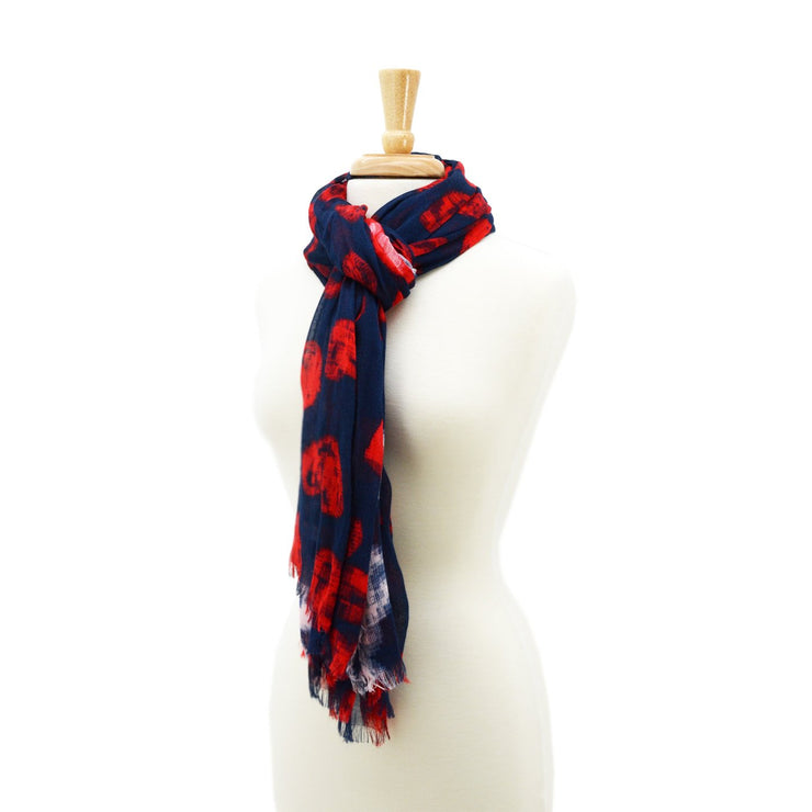 Natalie Hearts with Trim Scarf