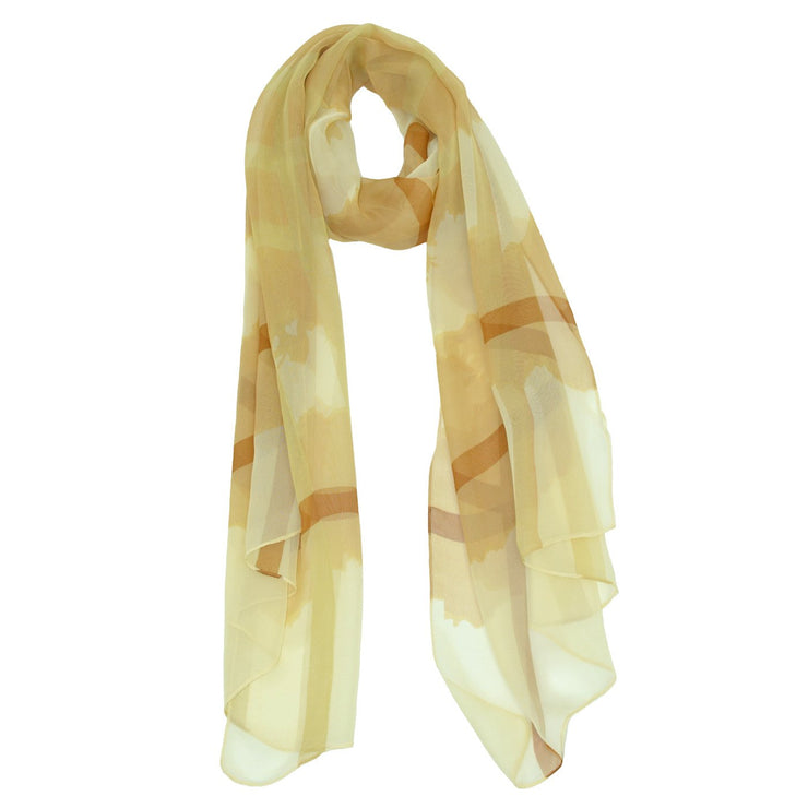 Georgia Striped Silk Sheer Scarf