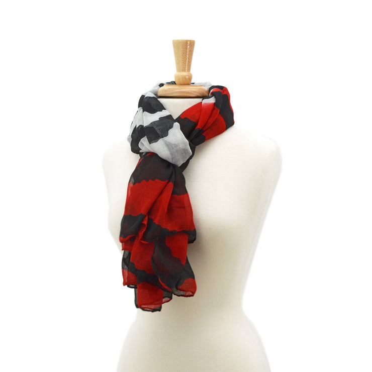 Carrie Striped Multi Scarf