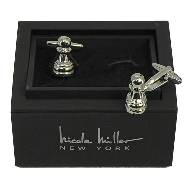 Nicole Miller Studio Chess Cuff Links