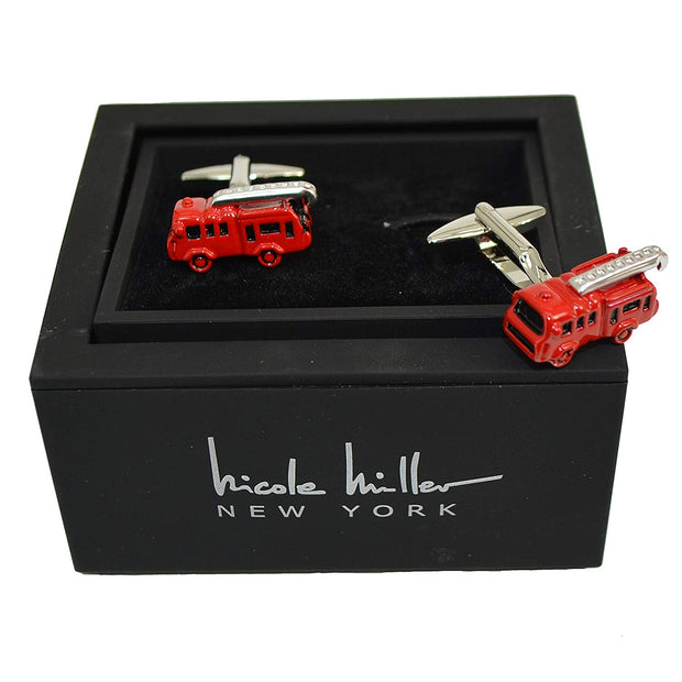 Nicole Miller Studio Fire Truck Cuff Links