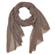 Dacia Solid Embellished Scarf