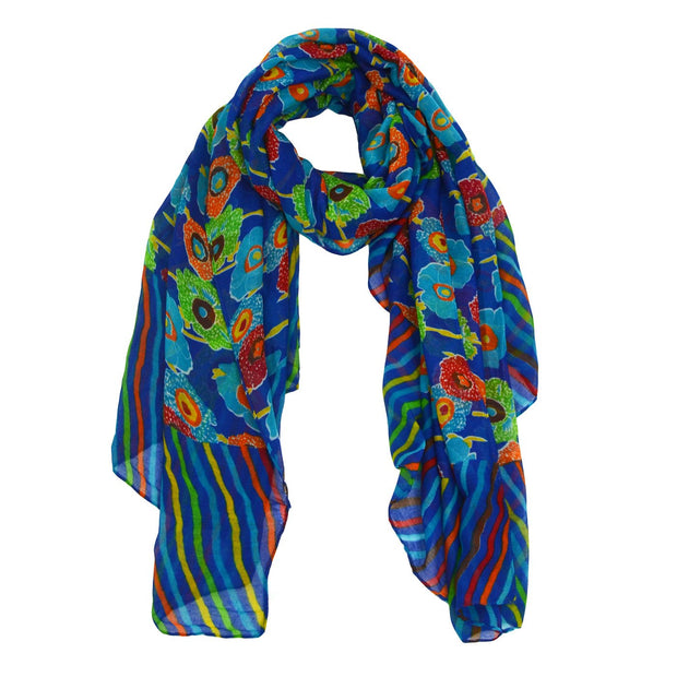 Caitlyn Striped Floral Party Scarf