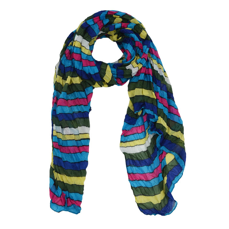 Kylee Striped Crinkle Scarf