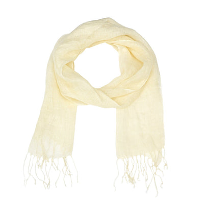 Ella Solid Print with Trim Scarf