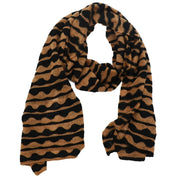 Mindy Crocheted Striped Scarf