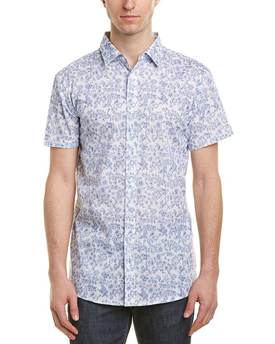 English Laundry Short Sleeve Floral Shirt