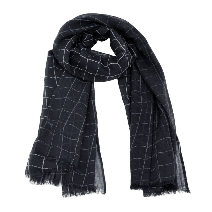Roxie Striped Print Scarf