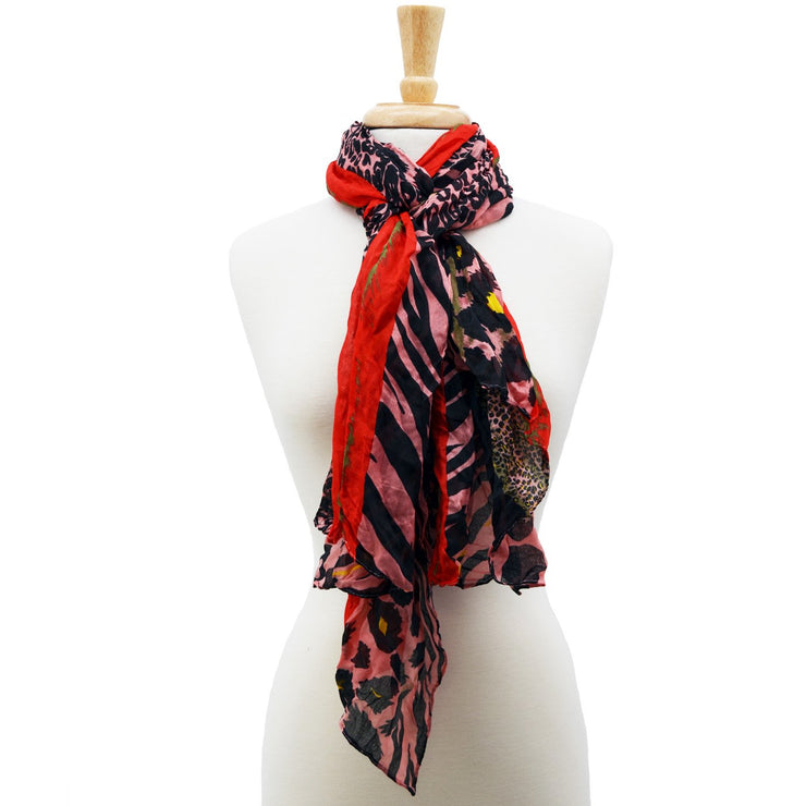 Claire Animal Print Scarf