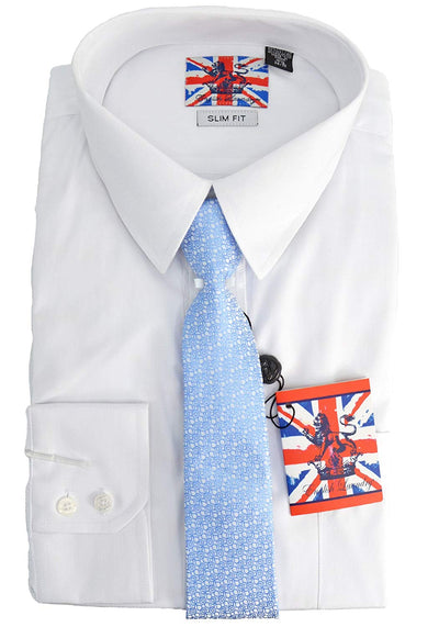 English Laundry Dress Shirt, Tie Combo Slim Fit