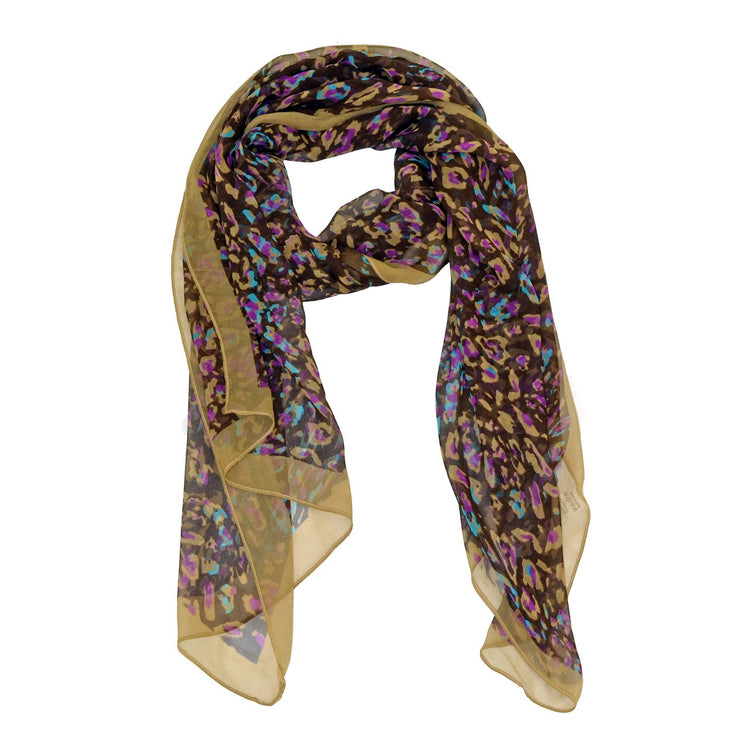Evelyn Cheery Silk Scarf