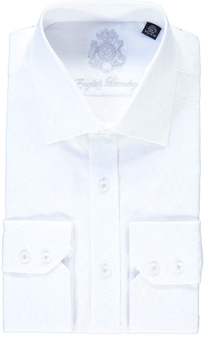 English Laundry White on White Dress Shirt