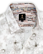 1 Like No Other Senca Print White Shirt