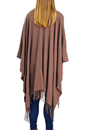 Roffe Accessories Francesca Poncho Brown